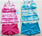Free Shipping NWT Girls Tankini Swimsuit Swimwear Holiday Bathers Bikini 6-16Y