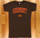 VERMONT 802 T-shirt - Burlington Killington Snow Stratton Ski UVM Women's S-2XL