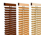 New Wood Wooden Grain Effect PVC Venetian Blind Blinds Easy Fit, 10 Sizes