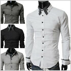 THELEES Casual Mens Long Sleeve Stretchy Slim Shirts Collection2