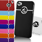 FITS IPHONE 4 4S CASE NEW STYLISH GRIP CHROME SERIES HARD COVER All COLOURS