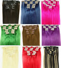 """New! 27 More Color 20""""6Pcs Remy 100% Real Human Hair Clip In Extension,30g&12""""W"""