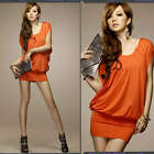 Sexy New 2012 spring Korea women's batwing sleeve party evening mini dress D290