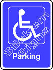 Disabled Parking DDA0010 Disabled stickers & signs