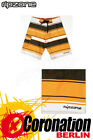 Ripzone Boardshort Rugby Stripe Shorts Chocolate/Orange NEU