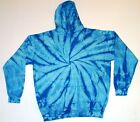 Tie Dye Hooded Sweatshirt Baby Blue Youth XS - Youth L., 80% Cotton, Long Sleeve