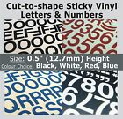 "356 x Sticky Letters and Numbers 0.5"" , Self-Adhesive , Plastic Vinyl Lettering"