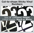 "21 x Sticky Numbers 6"" , Self-Adhesive Labels , Plastic Vinyl Numbering Stickers"