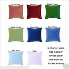 PLAIN FAUX SATIN PIPED ZIPPED CUSHION COVERS - WITH OR WITHOUT THE INNERS