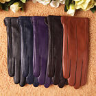 5 color-Classic women's Italian geniune leather winter warm gloves simple sytle