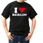 TShirt Muskel Girly Funshirt schwarz I Love Berlin