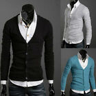 Men's Slim Style Fit Cardigan Trendy Casual Knit Sweaters B241