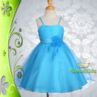 Wedding Flower Girls Bridesmaid Party Occasion Holiday Dress Up Sz 3-12 FG120