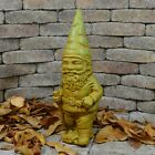 Cast Stone Cement Hiking Gnome Outdoor Garden Statue
