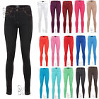 NEW LADIES SKINNY FIT COLOURED STRETCH JEANS WOMENS JEGGINGS TROUSERS SIZE 6-14