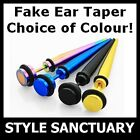 Fake Taper Flesh Plug Earring Ear Stretcher Piercing Body Jewellery Titanium NEW