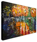 Large Abstract Painting Lovers In Rain Canvas Wall Art Pictures