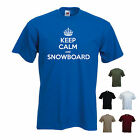 'Keep calm and Snowboard' - mens Funny T-shirt. S-XXL