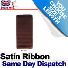 3mm 6mm DOUBLE SIDED SATIN RIBBON - DARK CHESTNUT - 5m 10m 25m Metres  SM241