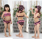 Girls Kids Swimwear Tankini Swimsuit Bikini Princess 2-7Y Bathing Suit Costume