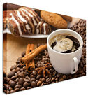 Large For Coffee Shop Cup & Beans  Canvas Wall Art Picture