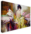 Large Fairy Painting Nude Bed Canvas Wall Art Pictures Watercolour