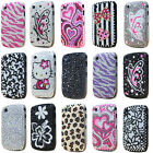 FOR BLACKBERRY 8520 9300 CURVE CRYSTAL DIAMOND CASE BLING DIAMANTE HARD COVER