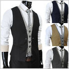 (VE34) THELEES Mens premium Business Casual Layered style Slim Vest 4 COLOR