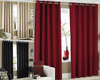 Blackout Lined Eyelet Curtains Thermal Ring Top Great VALUE