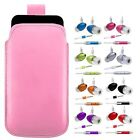 M-BABY PINK PULL TAB POUCH CASE COVER + HANDS FREE HEADSET fOr ZTE Orange Rio
