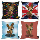"STYLISH CHIHUAHUA DOG CUSHION VARIOUS DESIGNS 18"" X 18"" DOG LOVER GIFT IDEA"