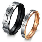 Fashion lace Titanium Steel Promise Ring Couple Wedding Bands Lover gift J44