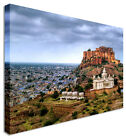 Large City Clouds Indian Canvas Wall Art Print