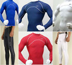 New Mens Winter Hot Compression Under Base Layer Skin Tight Pants Shirts Spandex