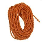 5-10-100M Man-made Leather Braid Rope Hemp Cord For Necklace Bracelet 3mm Hot
