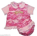 Personalized Baby Girl Princess Dress w/ Panty Camouflage Pink Camo Free Ship