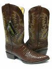 MEN'S BROWN LEATHER Belly Cut CROCODILE ALLIGATOR COWBOY BOOTS WESTERN RODEO