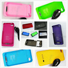 New 1900mAh External Backup Battery Charger Case Black Blue Red For Iphone 4 4S