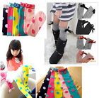 New Kids Toddlers Girls Soft Knee High School Socks 2-8Y Tights Leggings Stripe