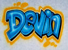 Airbrush T Shirt Block Style Name, Graffiti Shirt, Airbrush Graffiti, Airbrush