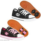 NEW HEELYS JAZZY X2 CANVAS ROLLER WHEEL SKATE SHOES BLACK PINK GIRLS & BOYS