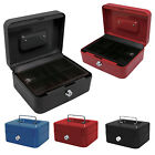 NEW PETTY CASH BOX MONEY BANK DEPOSIT STEEL TIN SECURITY SAFE WITH 2 KEYS & TRAY