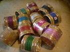 24 NEW Indian Bangles Set Bracelets Gold CHOOSE COLOUR SET Asian Bollywood