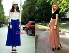 Woman Retro Long Chiffon Maxi Pleated Sexy Casual Beach Translucent Skirt Dress