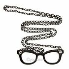 Fashion Retro Simple Style Glasses Pendant Long Chain Sweater Coat Necklace