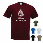 'Keep Calm and Speak Klingon' Star Trek / Klingon Funny T-shirt. S-XXL