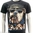 sc61 M L XL XXL Survivor Chang T-shirt Tattoo Skull Dead Demon Bulldog Dog Biker