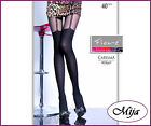 Sexy tights Fiore 40 Denier Carisma Mock suspender tights hold-up imitation xx