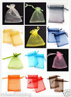 Free PP 50pcs Candy Colorful Gift Transparent Pouch Organza Bags Wedding 7x9cm