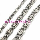 Mens Womens Silver Stainless Steel 2 Facted Cut spiral Coil Link Chain Necklace